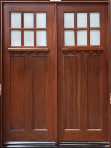 solid wood cherry double 30 exterior door unit
