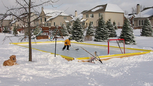 backyard ice rink kits are the perfect way to build an outdoor ice